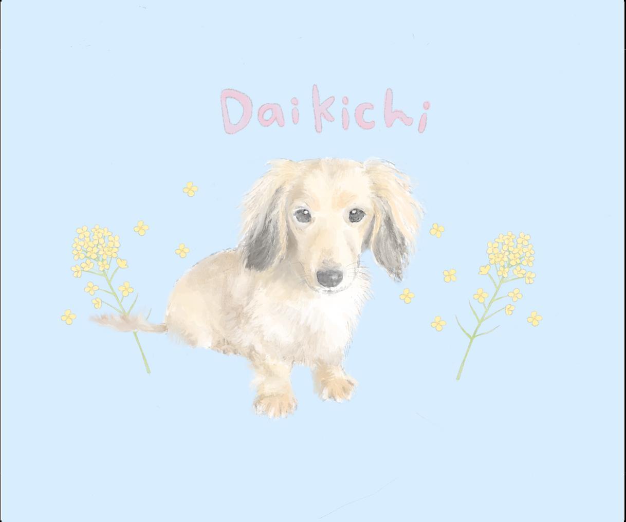 優しいタッチで大切なペットの似顔絵を描きます 大切な犬ちゃん、猫ちゃんなど☆記念にイラストを残しませんか♪ イメージ1