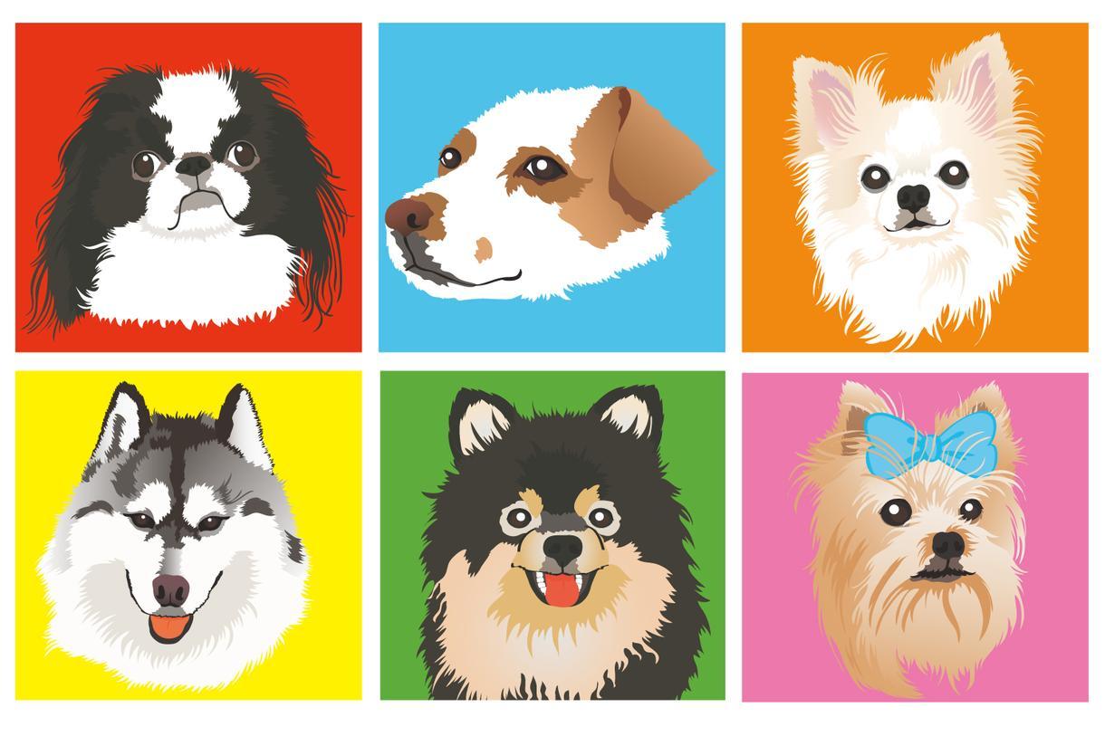 おしゃれで可愛いペット似顔絵を描きます SNSアイコンやグッズに。おしゃれな背景を制作します