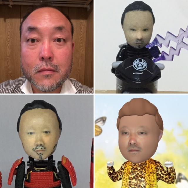 写真から面白い3D最新技術デジタル似顔絵作成します 最先端3Dにて表情変換を計算して作成します。