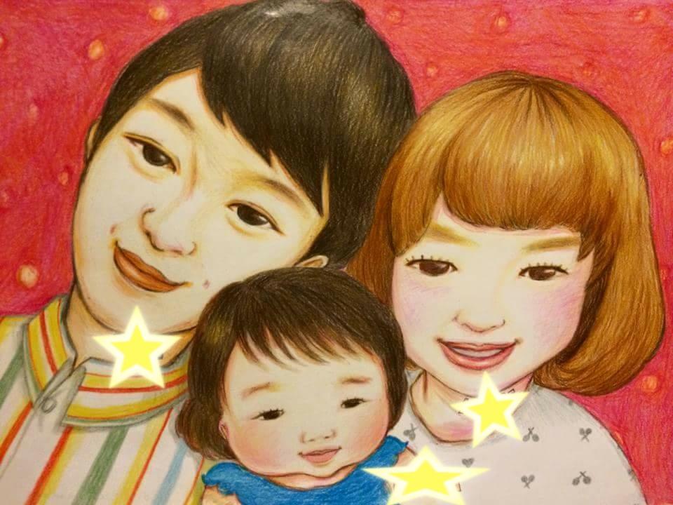 似顔絵を描いています お祝いに、手描きの似顔絵の贈り物を!