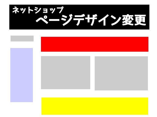 ネットショップのページデザインの編集をします 日々の運営で触れないHPデザインのお手伝い