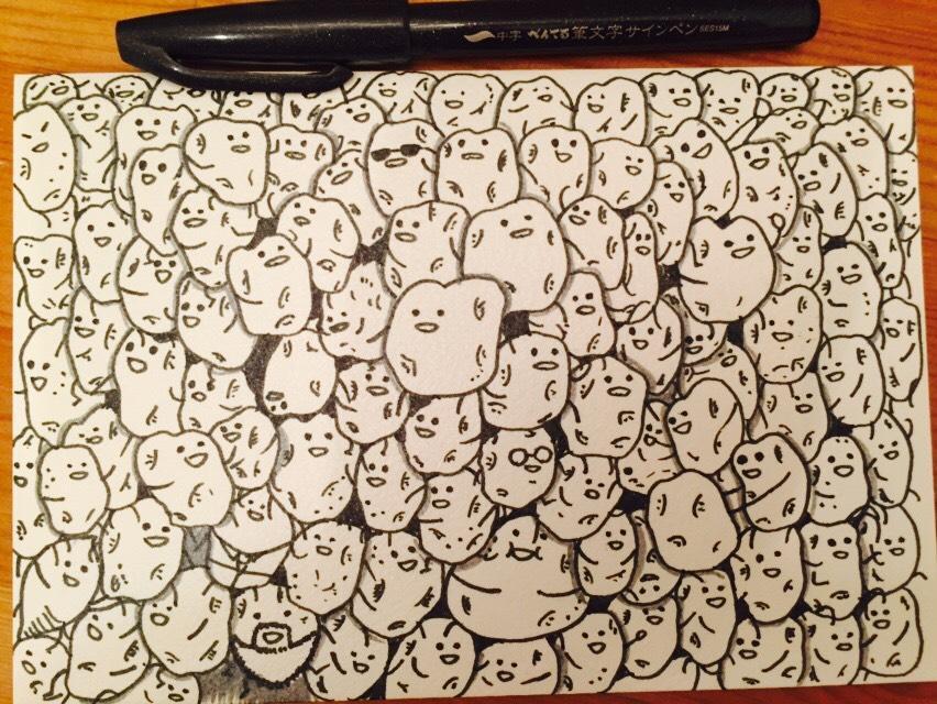 ★Instagram22.2Kフォロワー掲載!Doodle art!!ドゥードゥルアート★