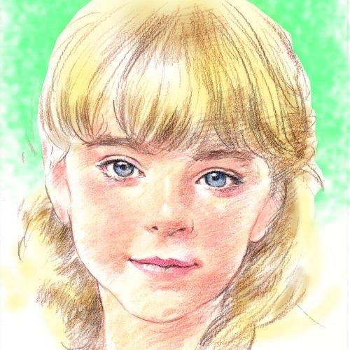 ★手描き★パステルと色鉛筆で描く似顔絵