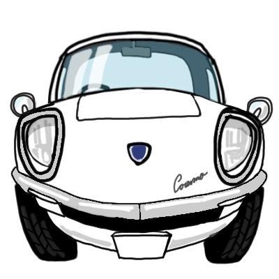 あなたのお車を サンプル(丸タイプ)のような真正面イラスト作成