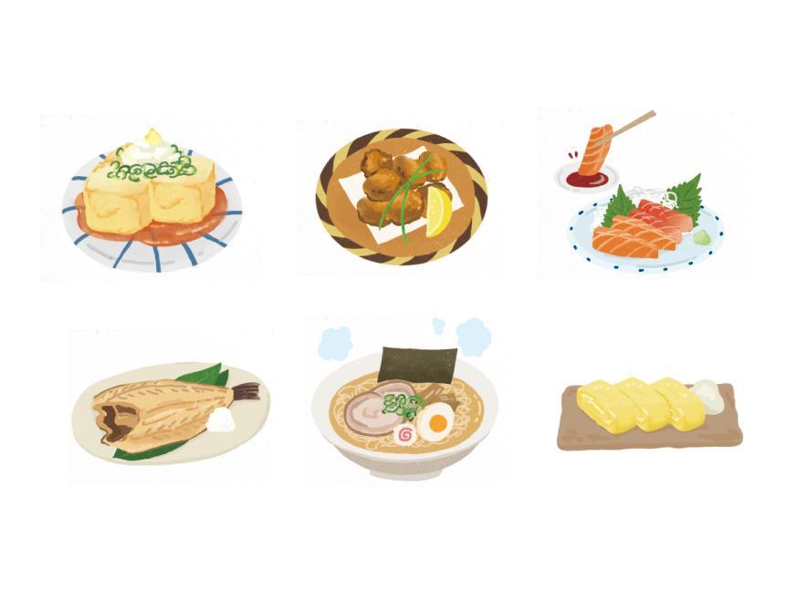 シズルたっぷり!食べ物のイラストお描きます プロのイラストレーターが販促ツール用イラストをお描きします!