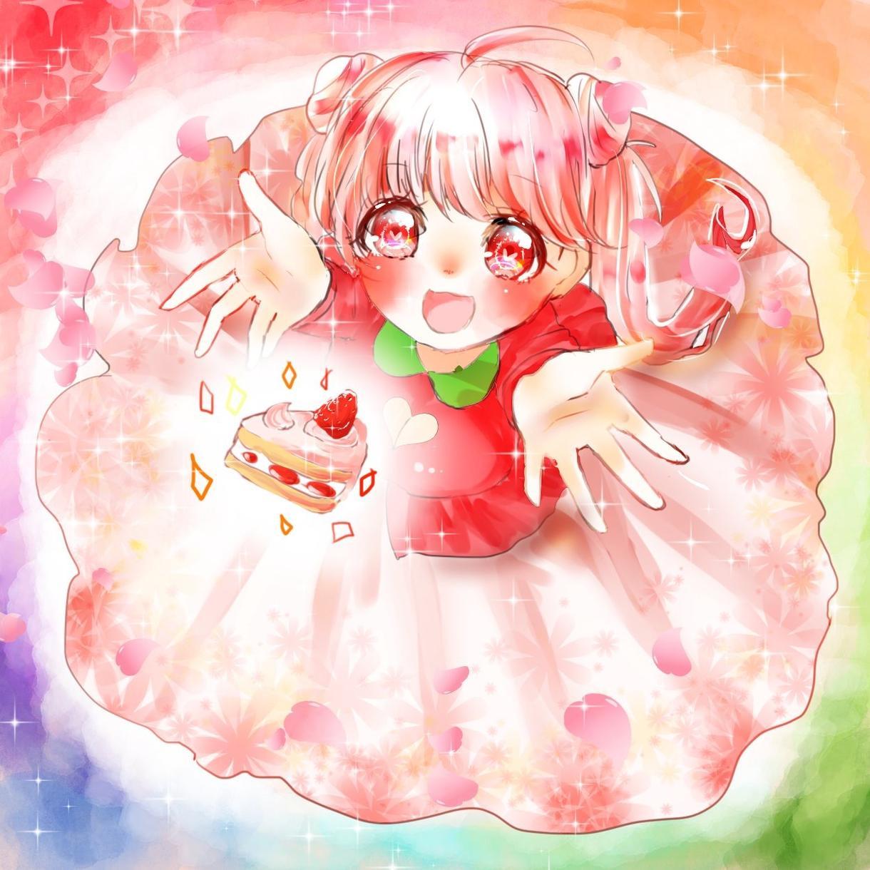 可愛い系女の子のアイコン描きます!
