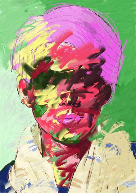 あなたを抽象画タッチでお描きします デジタルペンであなたのイメージを色と形で表現します