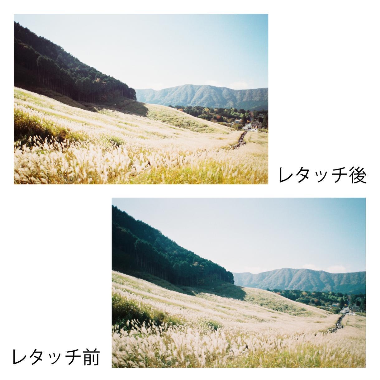 人物、風景写真等をレタッチします いつもの写真をワンランク上の写真に仕上げたい時に