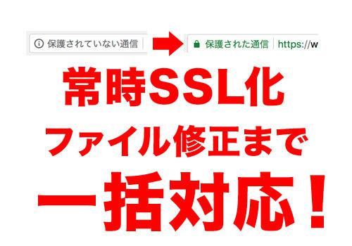 常時SSL化、ファイル修正まで一括解決します 【法人様用】常時SSL化。実績多数の私にお任せください