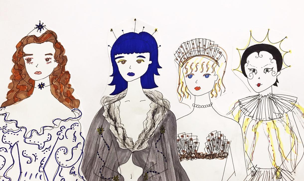 ロンドンの芸大に在籍中、女の子のイラスト制作します 〜ロンドンの現役芸大生が描くどこかレトロでガーリーな女の子〜