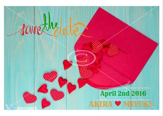 結婚式のお知らせに!Save The Dateカードのデザインデータ