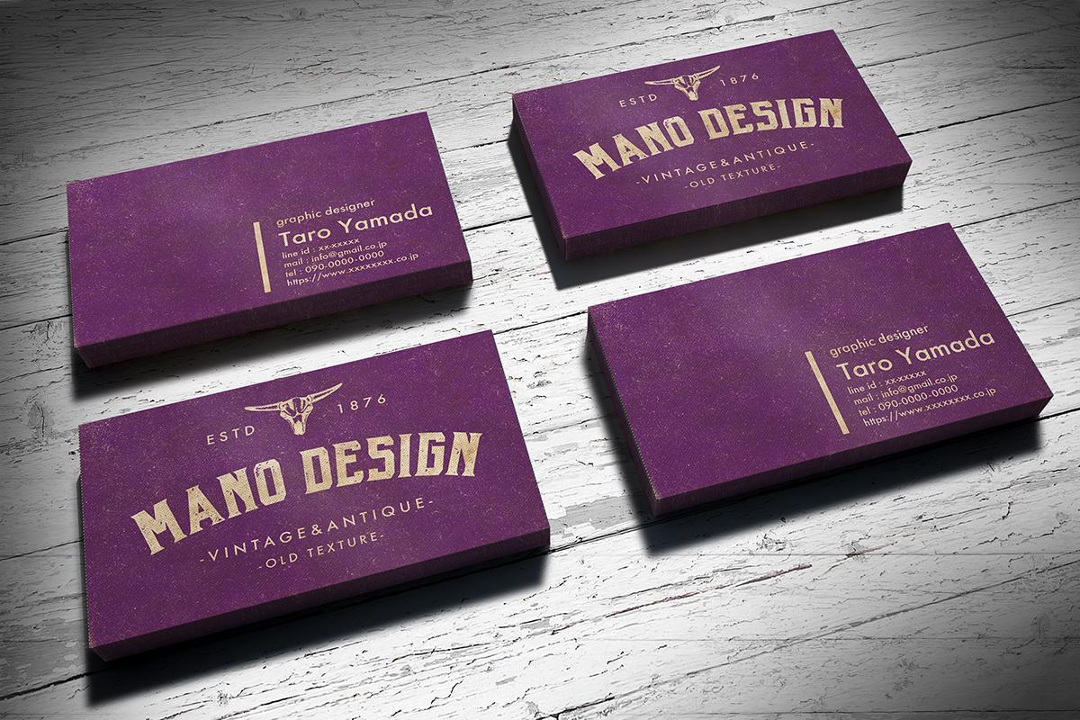 海外のアンティーク素材で本格的な名刺を作成します 他には無い特別な名刺やショップカードはプロにおまかせください