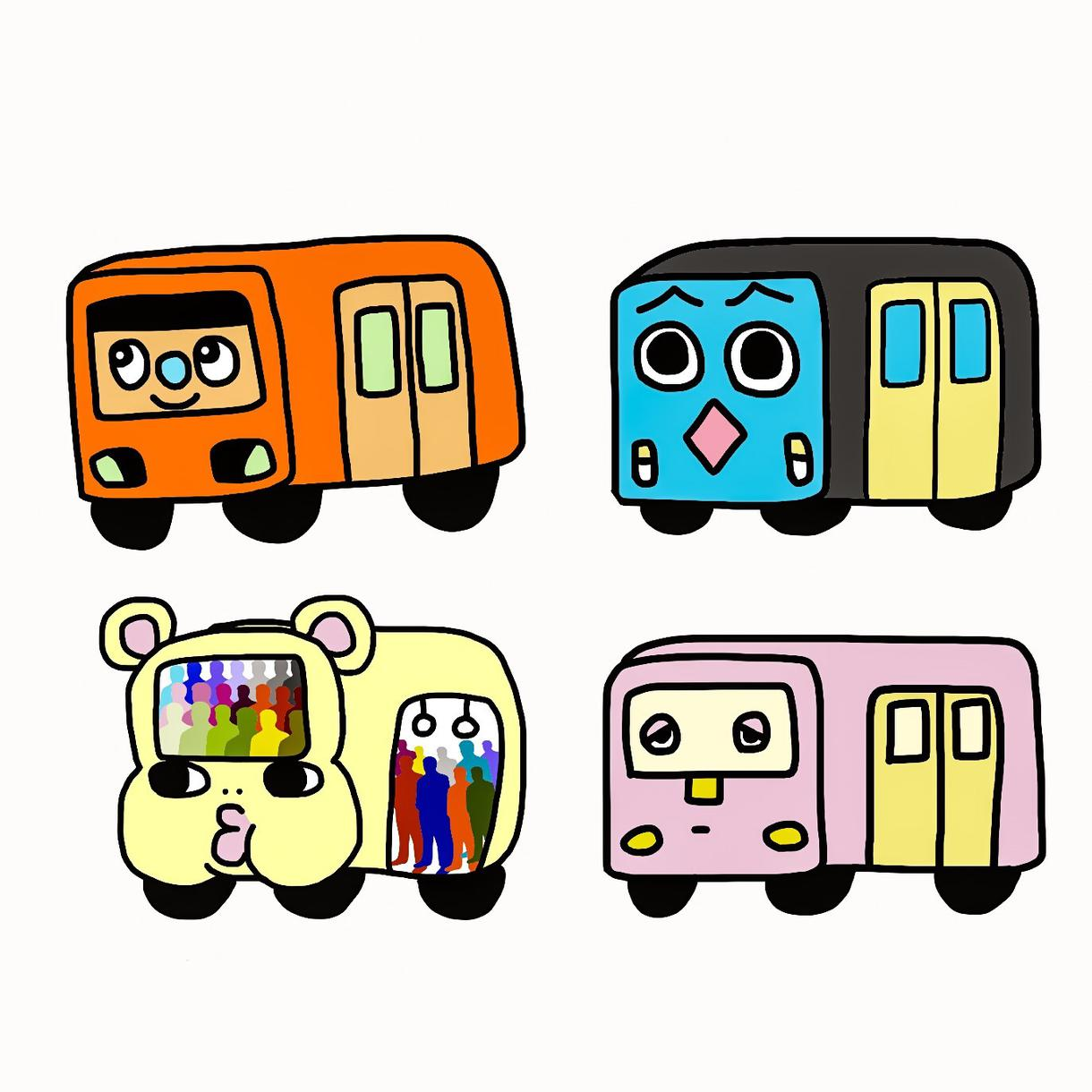 あなただけのゆるい電車作ります 電車のキャラクターを作りたい方にオススメ!