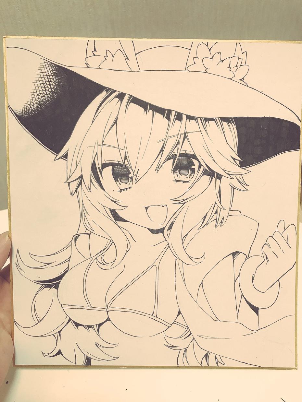 好きなキャラクターを色紙に書きます アニメ・ゲームが好きなあなた。推しがいる方にオススメ