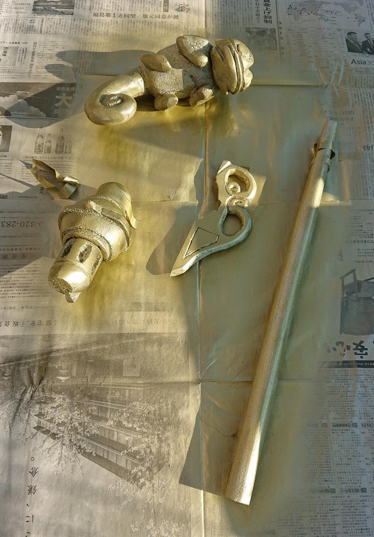 コスプレ用の道具(杖や武器〜)を制作します 発泡スチロールの削り出しと塗装で軽い!