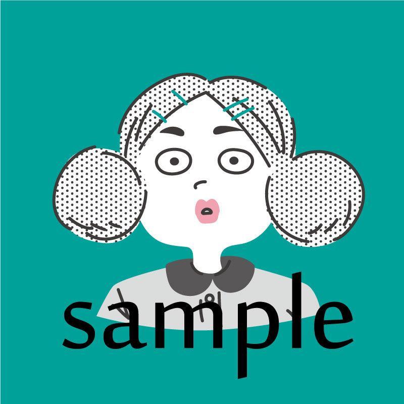 シンプルでゆるいアイコンお描きします SNS等のアイコンに★写真をもとに似顔絵を制作します★