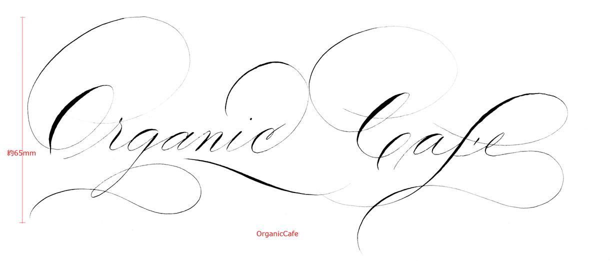 カリグラフィーで装飾的な文字を描きます ~アルファベットでお好きな言葉、シンプルかつ大胆な線で~