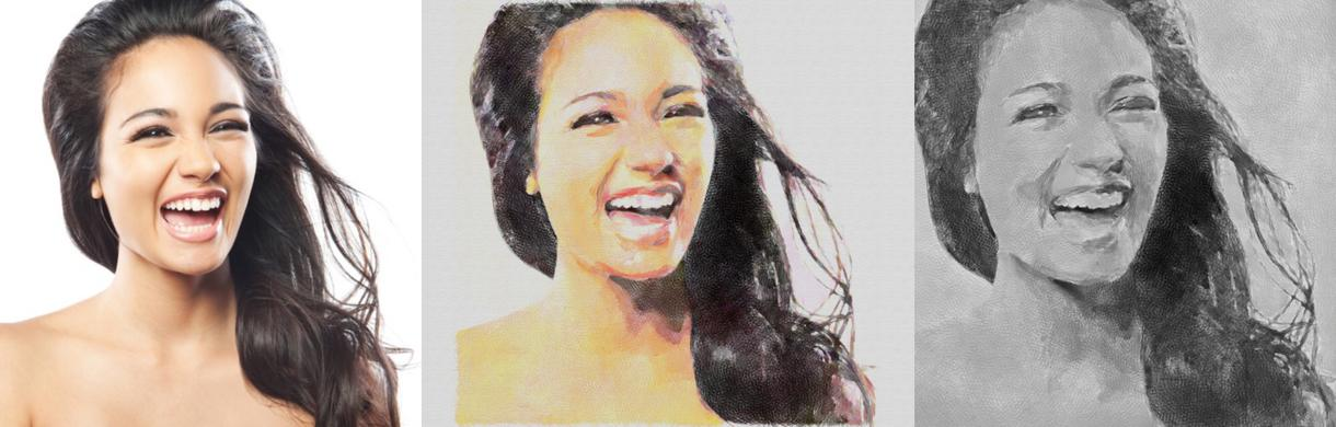 写真を似顔絵風加工します お手持ちの写真を似顔絵に風加工します