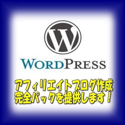 完全パックでWordpressブログを作成します ドメイン&サーバー契約からアフィリブログ作成&SSL化まで イメージ1