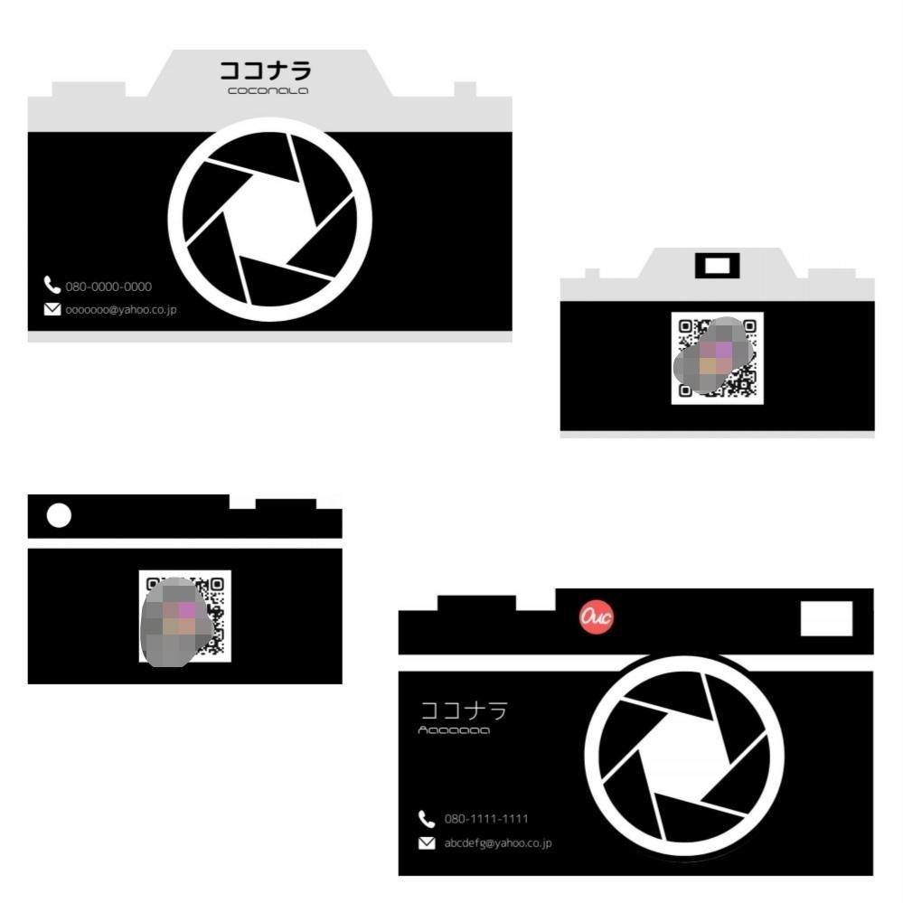 カメラ風名刺をデザインからお届けまで承ります 写真好き、カメラ好きの方にオススメ! イメージ1