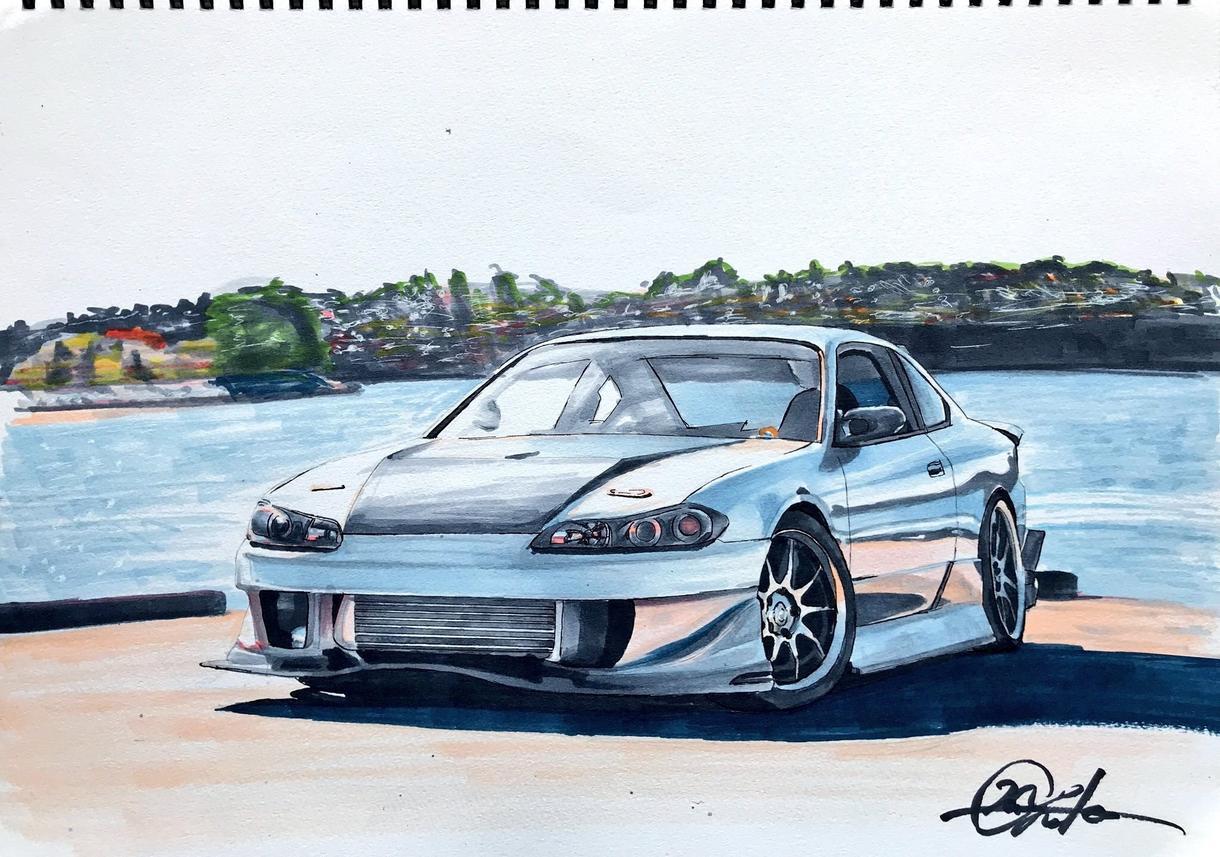 あなたの愛車のイラストを描きます 車好き必見!世界に1枚のだけのカーイラストをあなたに!