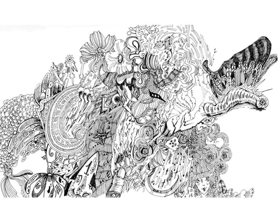 線画。気持ちをこめて、手描きで最後までお描きします あなたの為にイメージを聞いて描きます!幻想的な世界の線画