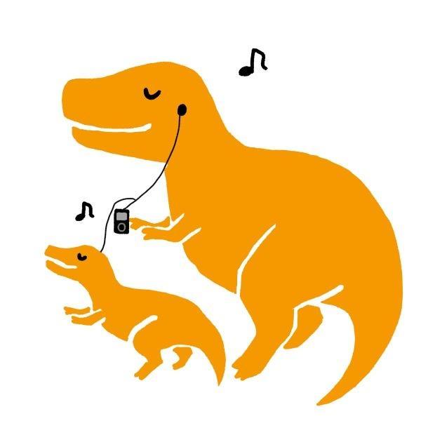 恐竜化した似顔絵・家族イラスト作ります お祝いやアイコンに!ほっこり家族恐竜イラストです