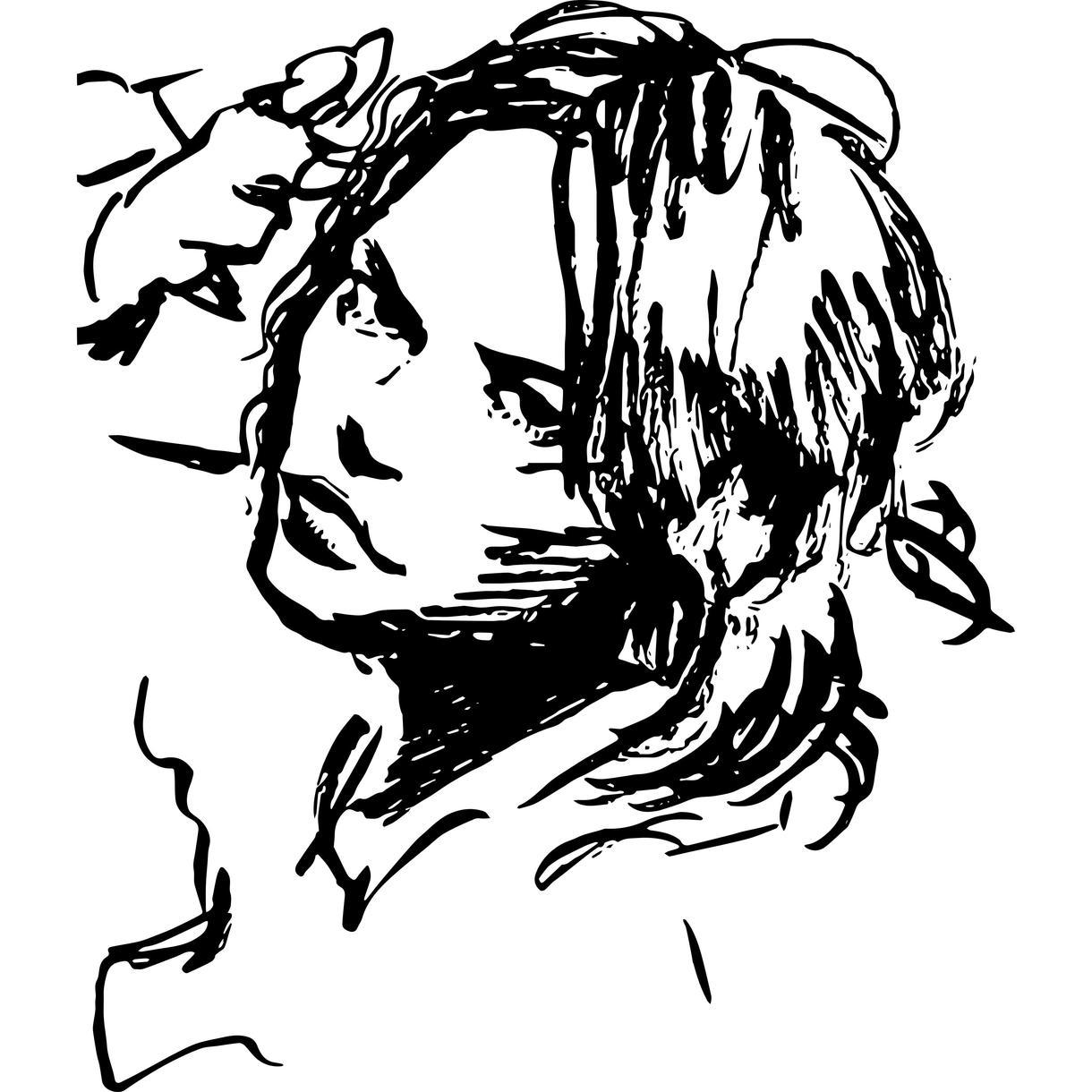 筆ペンで、ややデフォルメの効いた似顔絵を描きます 家族や友人へのちょっとしたプレゼントに。SNSのアイコンに。
