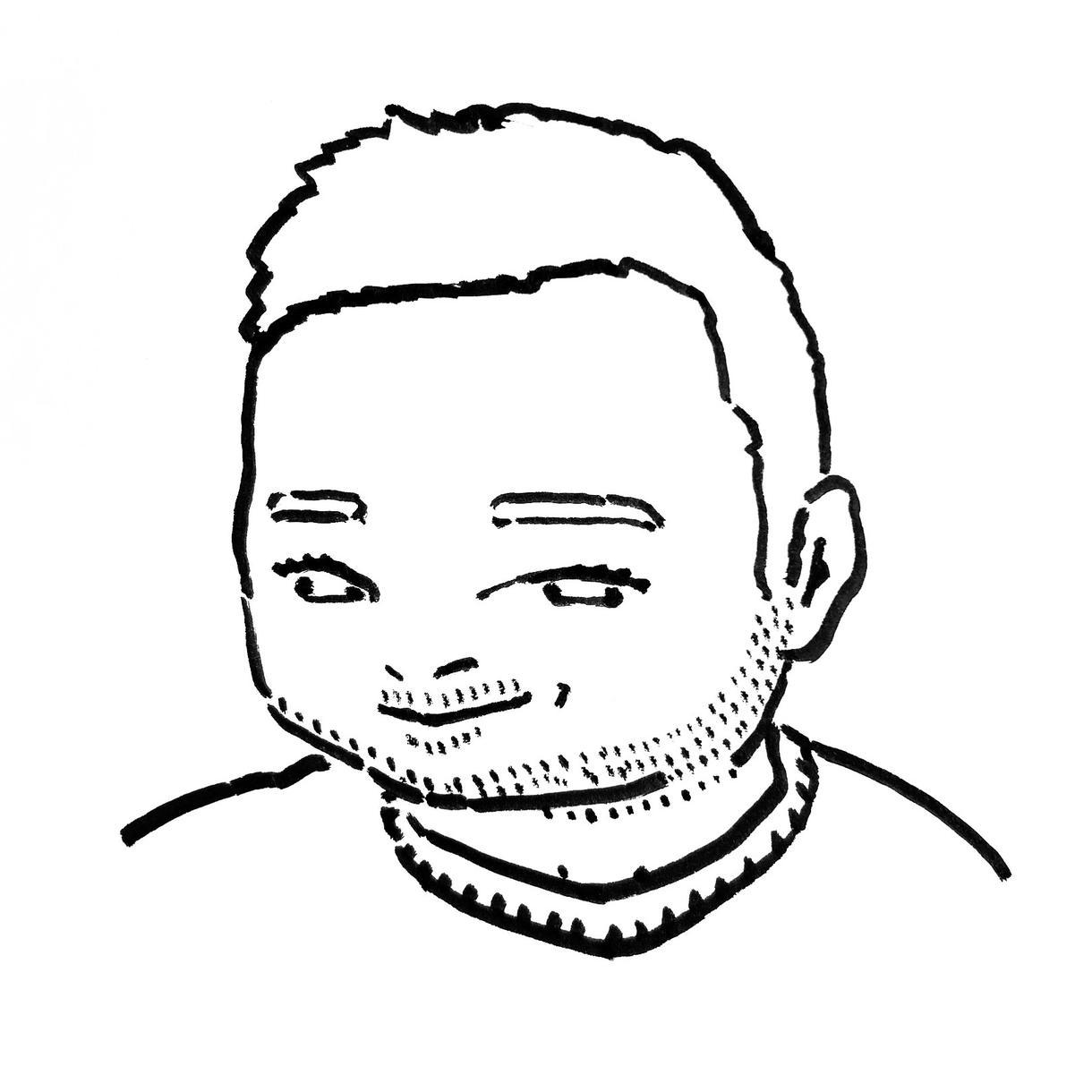 シュールなモノクロ似顔絵・イラストお描きします 個性的なイラストをお探しの方におすすめです!!!