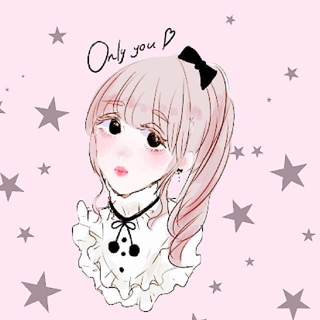オシャレで可愛いアイコン描きます おしゃれでガーリーなインスタ系女の子のアイコン