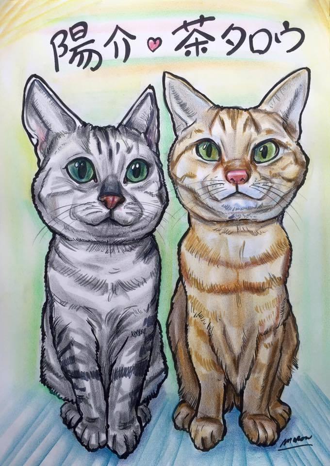 2名~4名の楽しくソックリな似顔絵をお描きします 似顔絵ウェルカムボードも対応★納期3日★ペットもOK!