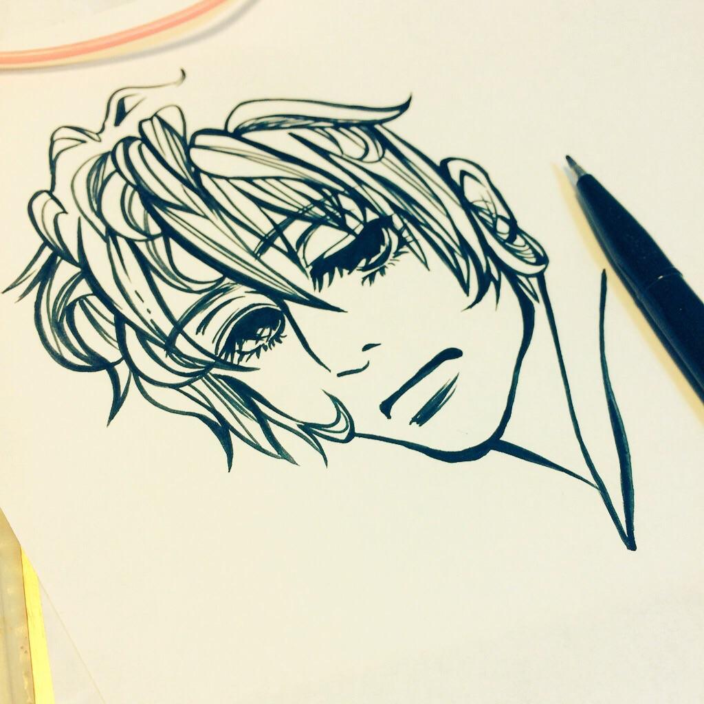 女の子のイラスト描きます