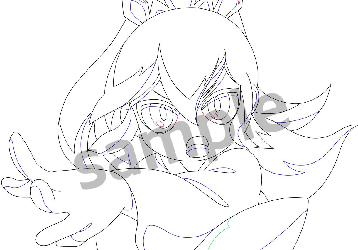 アニメ原画風に描きます アイコンやサムネにオススメです!
