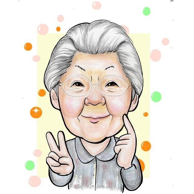 高齢者施設スタッフ様専用、利用者様の似顔絵描きます 毎月の誕生日会プレゼントに似顔絵のプレゼント。