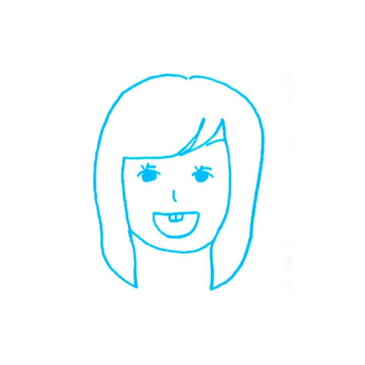 似顔絵アイコンを描きます 一色で描き、ラフなタッチです!!