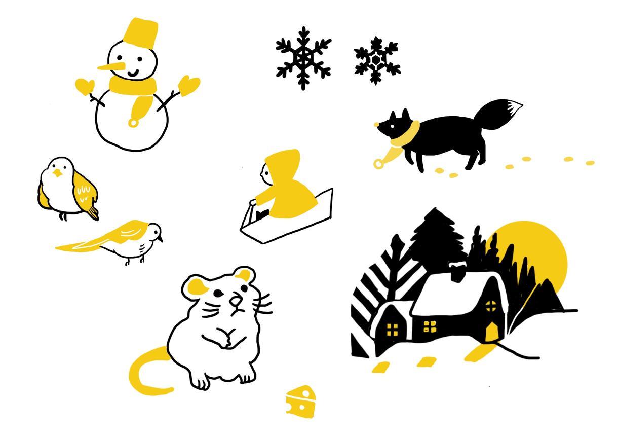 商用可☆温かいシンプルなイラスト描きます オリジナリティーのある手描きイラストを制作します。