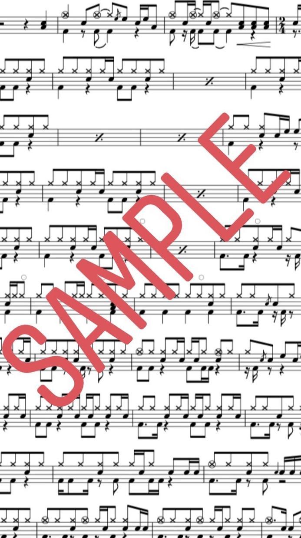 ドラムだけの楽譜をお作りいたします 演奏動画、難易度アレンジ等ご要望にお応えいたします! イメージ1