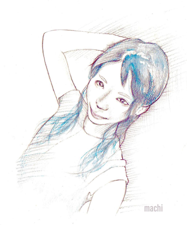 ネット公開用イラスト描きます 顔出しは怖い。でも自分の顔を伝えたい。