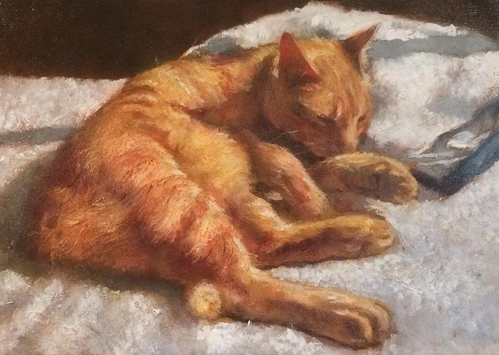 油絵でペットの肖像画を描きます 大切なペットとの思い出を色褪せない油絵で