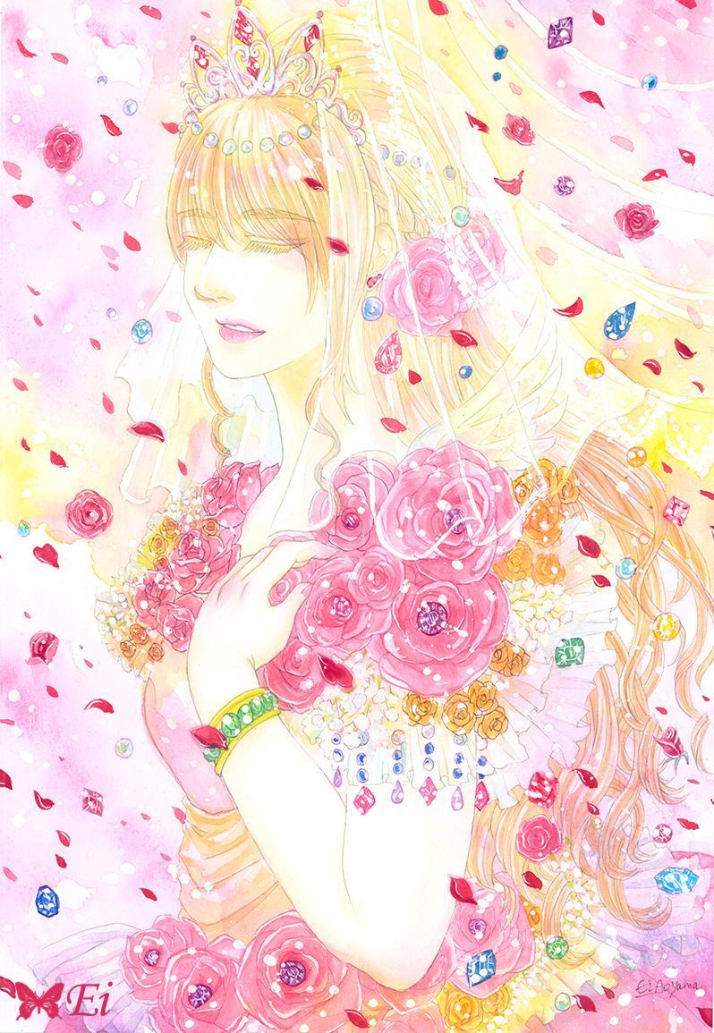 幻想的な水彩イラストレーションを描きます キラキラした水彩イラスト。媒体のメインビジュアルに。 イメージ1