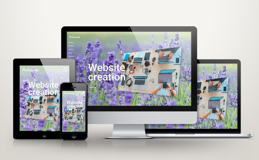 PC、タブレット、スマホ対応ホームページ制作します SEO対策をした完全オリジナルのレスポンシブデザイン!