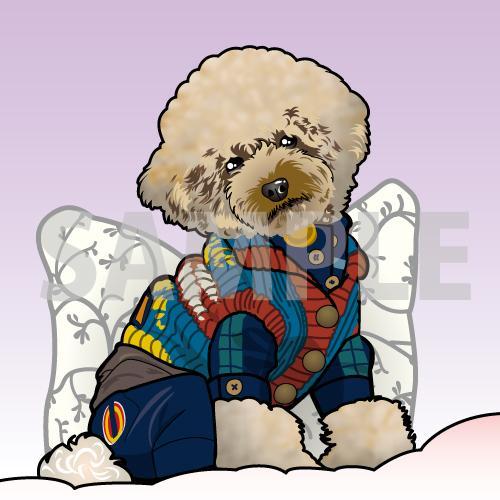 ペットのイラストをお写真のままお描きします 大切な家族であるワンちゃんねこちゃんの記念に! イメージ1