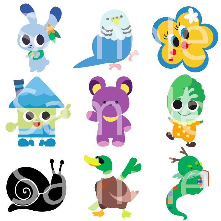 フラットデザインのキャラクターイラスト書きます シンプルでおしゃれなオリジナルキャラクターが欲しい方に