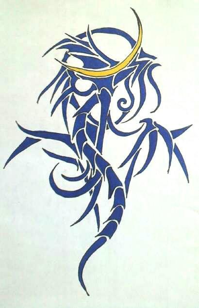タトゥー風のイラスト描きます 絵柄はトライバル柄のタトゥーのような