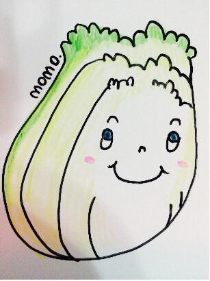 あなたのイメージで、野菜や、果物にたとえて、似顔絵をかきます。