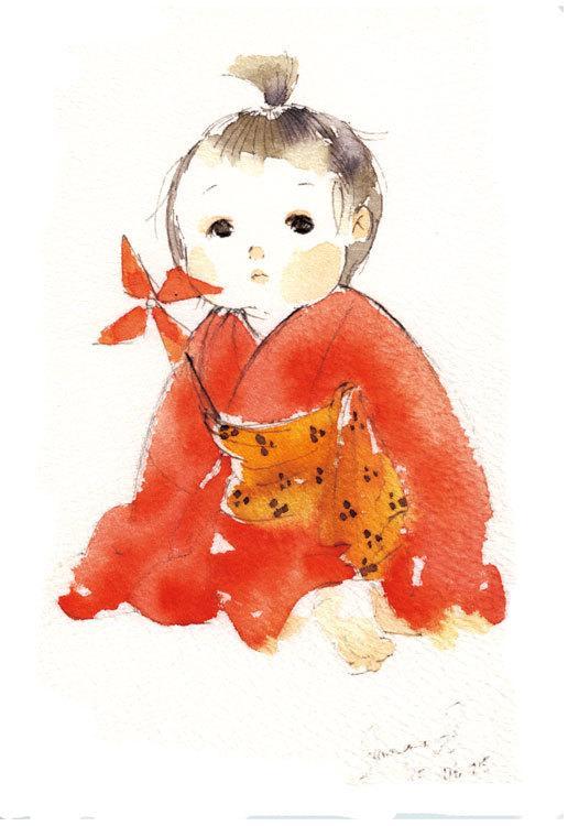 小さな子ども、赤ちゃんの似顔絵、ちびキャラ描きます お子様の最高で自然な一瞬を絵で残したい、記念やプレゼントにも