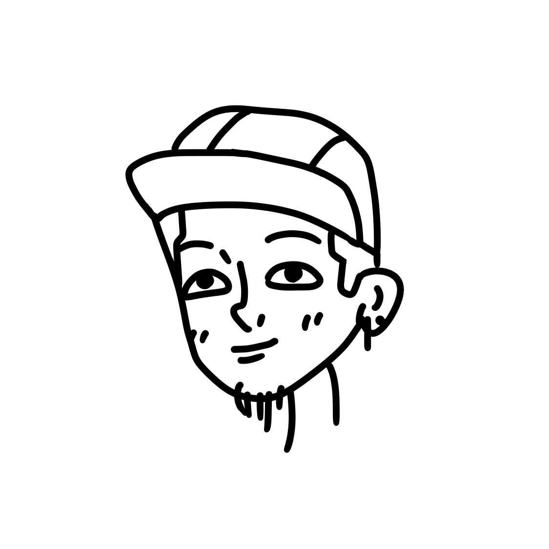 レトロポップな可愛い似顔絵描きます アイコン、Tシャツデザインなどに使ってください!