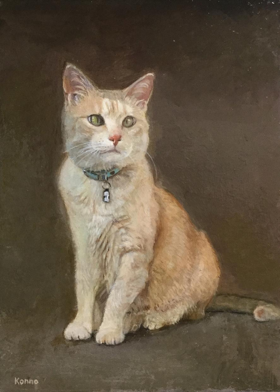油絵 ペット 人物肖像画 絵画制作いたします プロの画家が油絵制作いたします(F0号orサムホールサイズ)
