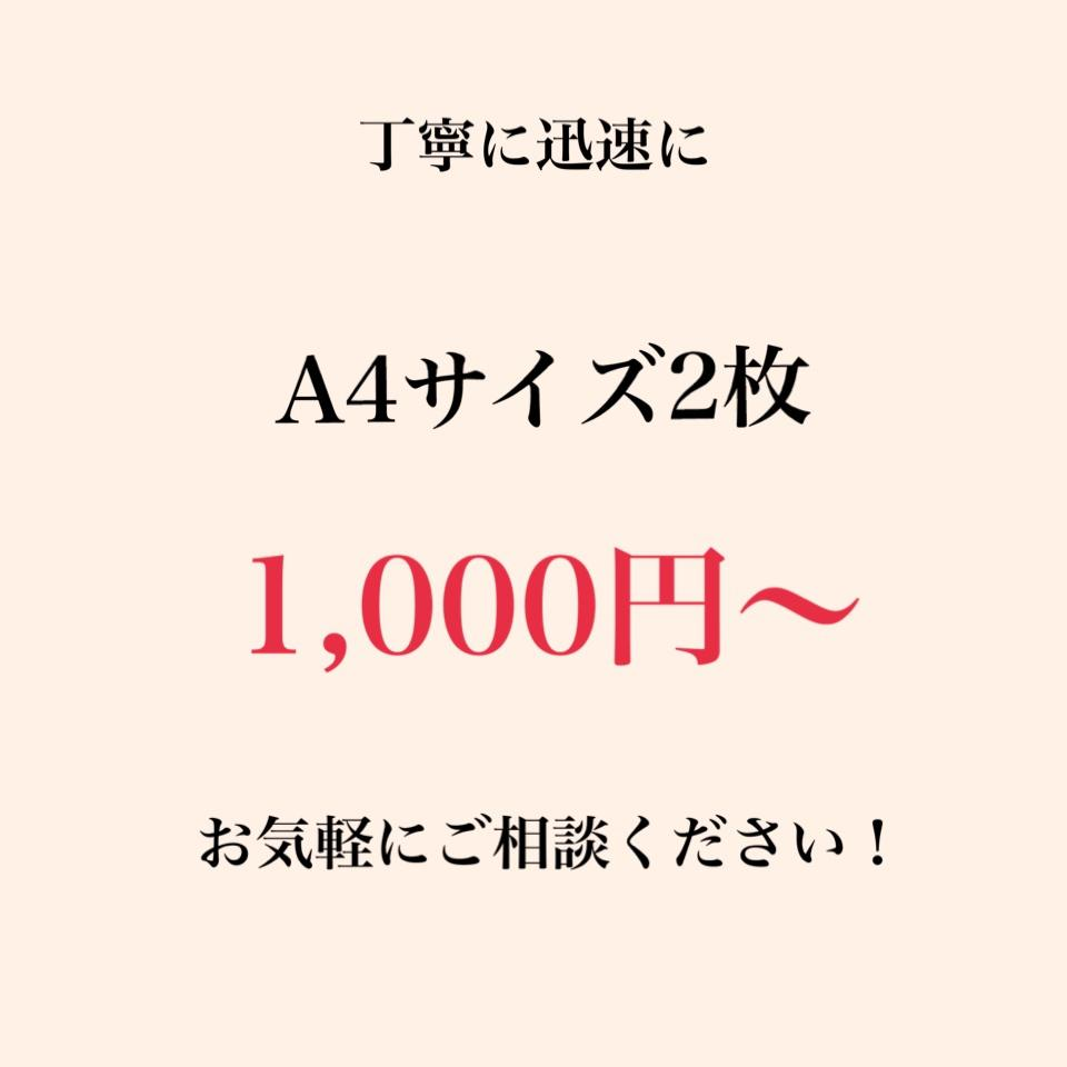 最短半日!大特価!紙・PDF等テキスト化いたします A4サイズ2枚1000円~ お気軽にご相談ください。 イメージ1