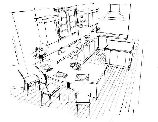 簡単なイメージスケッチを制作します 最初にアングルスケッチを描いてお見せします。 イメージ1